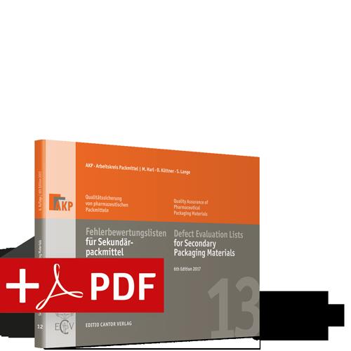 Fehlerbewertungslisten für Sekundärpackmittel (Buch + PDF)