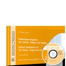 Fehlerbewertungsliste für Ventile, Pumpen und Adapter