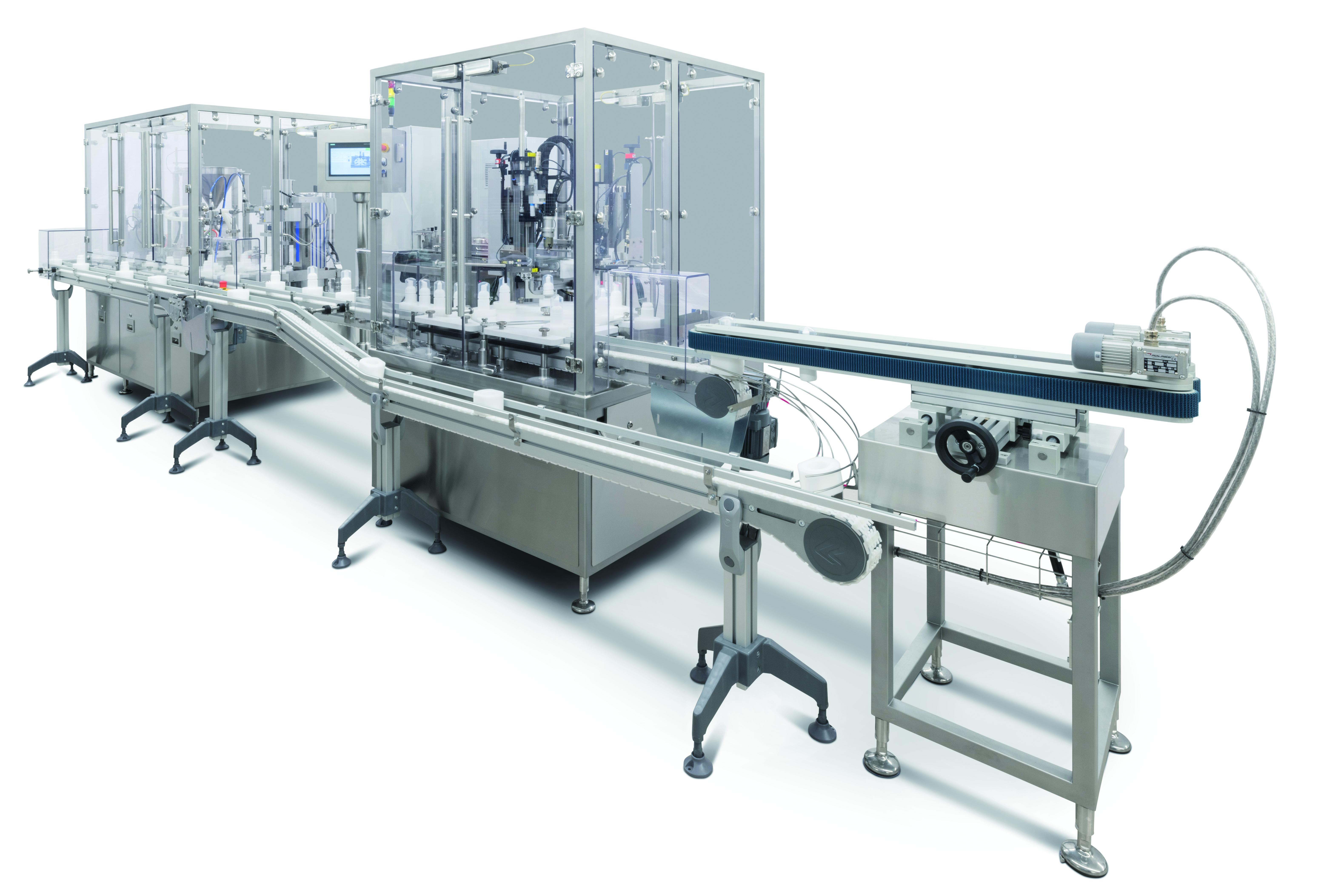 Afag Handlingsysteme deckeln 2.000 Behälter pro Stunde
