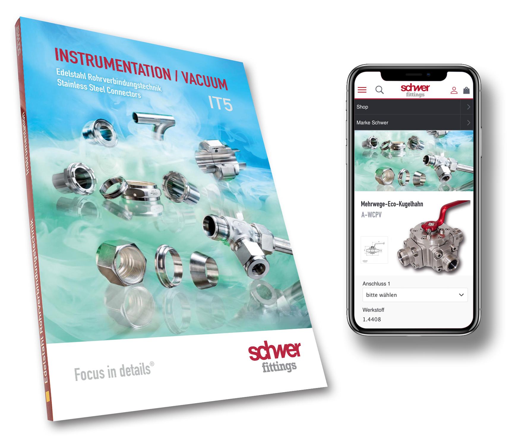 """Neue Ausgabe des Kataloges """"Instrumentation/Vacuum"""" in der Edelstahl Rohrverbindungstechnik"""