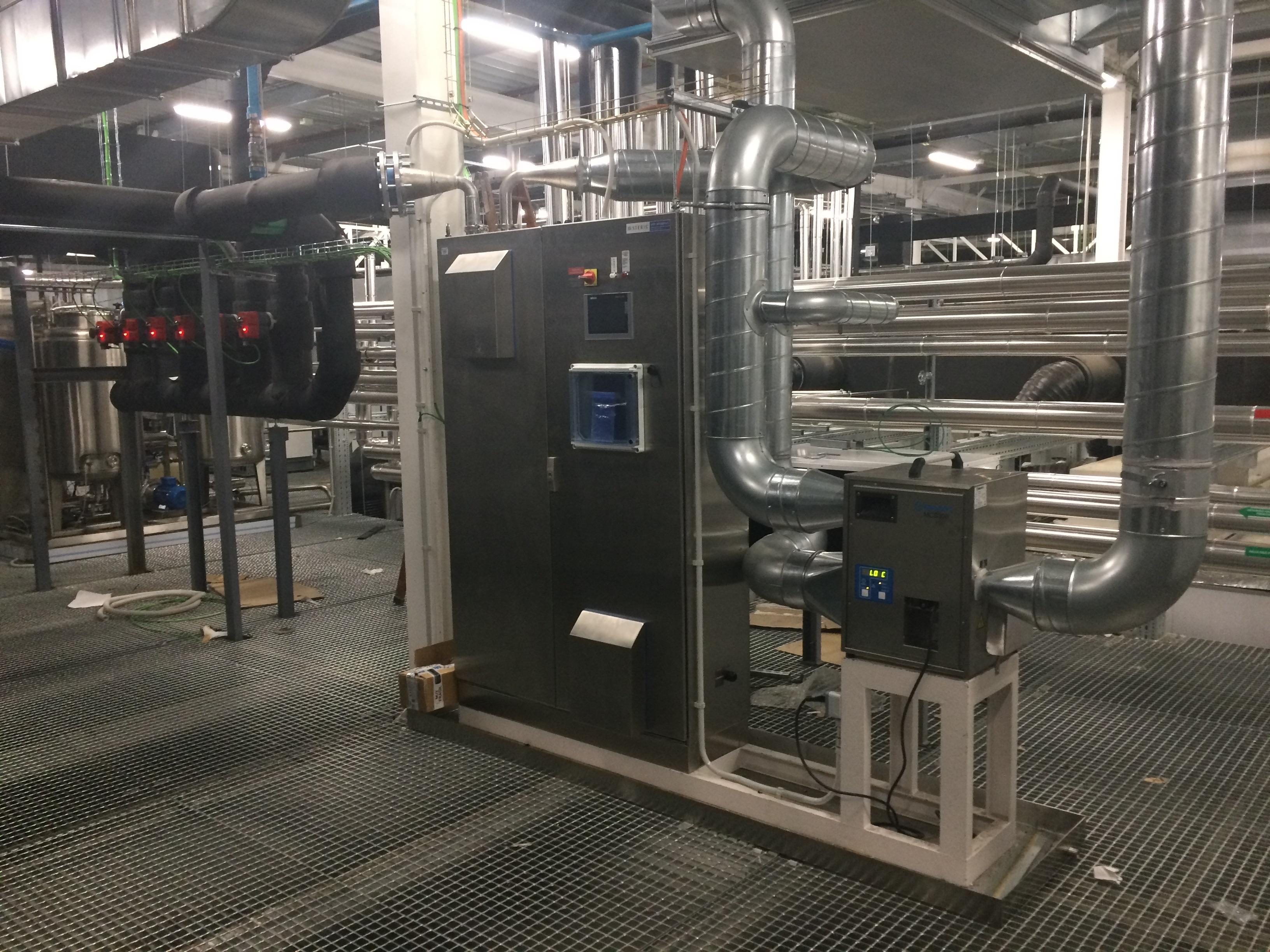 Integration eines H2O2- Gasgenerators großer Leistung in eine Raumluftanlage / Vielseitiger automatisierter Dekontaminationsprozess für Reinräume, Isolatoren, RABS und Schleusen
