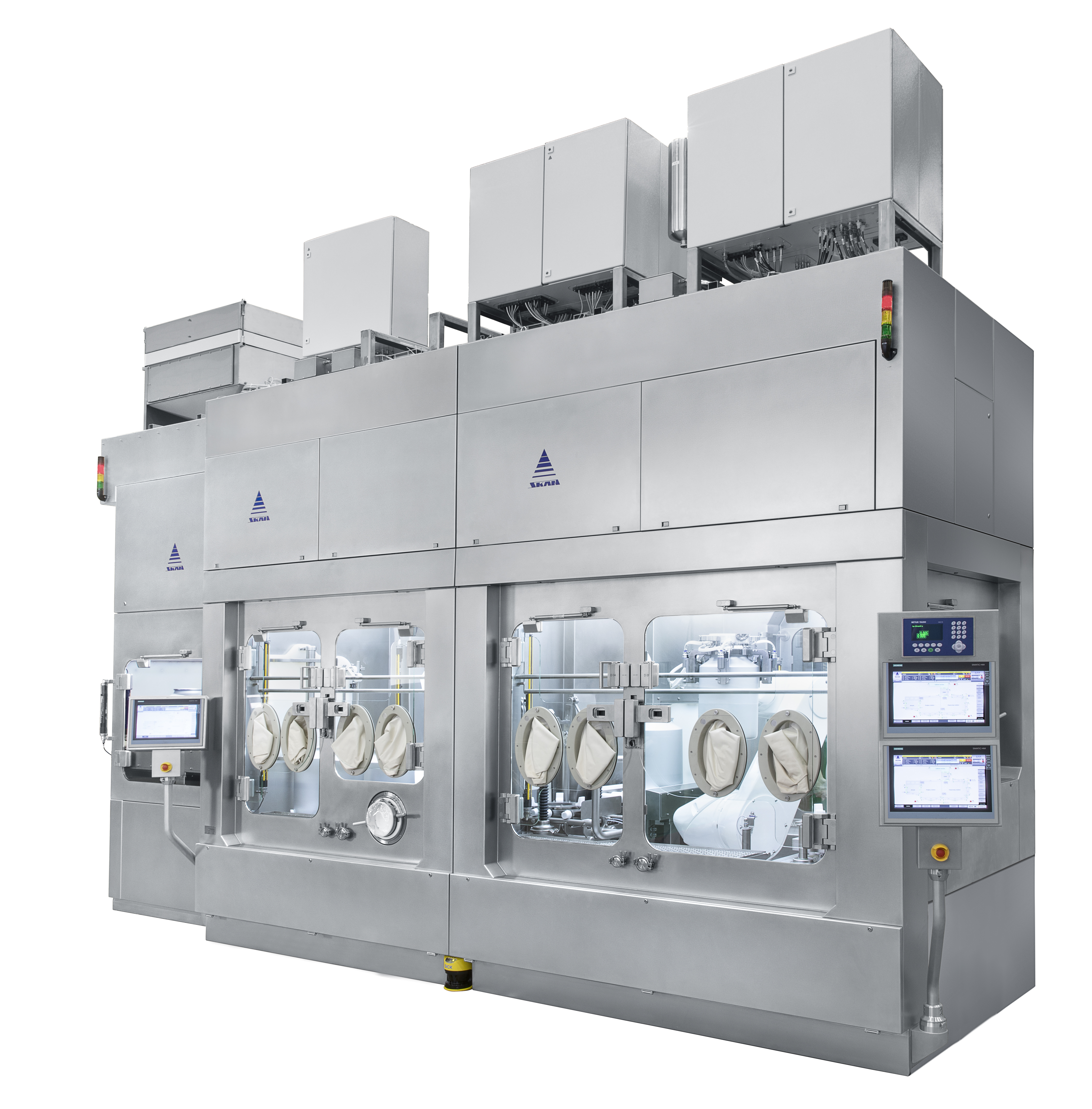 Robotics in a sterile Pharma Isolator / Sterile Discharging of large Aluminum Cans into a Process Vessel – Case Study